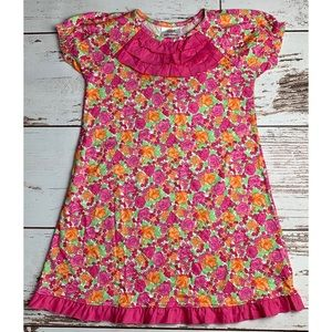 NWT HANNA ANDERSSON Ruffled Floral Dress 110/5-6